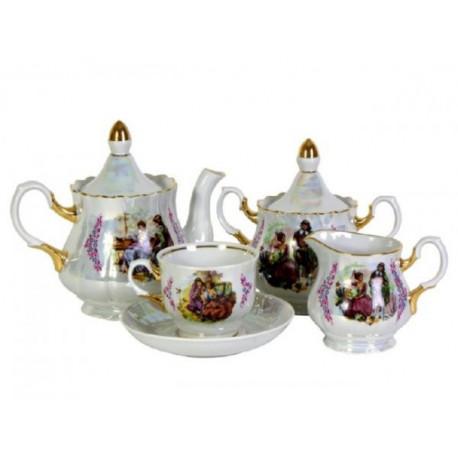 3.Сервиз чайный 15 предметов ф. Романс рис. Мадонна (1 сорт)