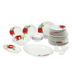 Сервиз столовый 36 предметов 4 вида тарелок ф. Голубка рис.Роза на капители (1 сорт)