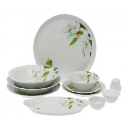 Сервиз столовый 36 предметов 4 вида тарелок ф. Идиллия рис. Цветущая лилия (1 сорт)