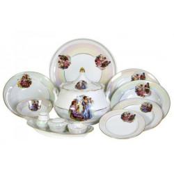 Сервиз столовый 37 предметов 4 вида тарелок ф. Идиллия рис.Мадонна (1 сорт)