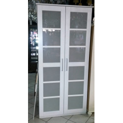 Шкаф 2-дверный Париж Д 6203 в белом цвете