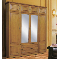 Шкаф 4-дверный комбинированный Орион с зеркалами (пример 2)