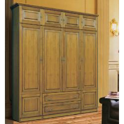 Шкаф 4-дверный комбинированный Орион с глухими дверцами (пример 3)