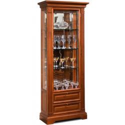 Шкаф с витриной и ящиками Престиж ГМ 5906Е-01