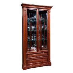 Шкаф с витриной угловой Престиж ГМ 5918Е