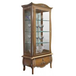 Шкаф с витриной Трио ММ-279-01(-01)