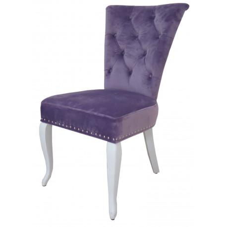 Полукресло (стул мягкий) MODENA (белый глянец/лиловый)