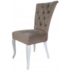 Полукресло (стул мягкий) MODENA (белый глянец/беж)