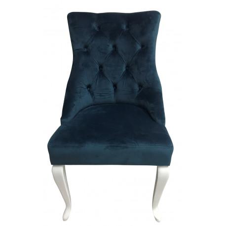 Полукресло (стул мягкий) HILTON (белый глянец/аква)