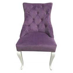 Полукресло (стул мягкий) HILTON (белый глянец /лиловый)