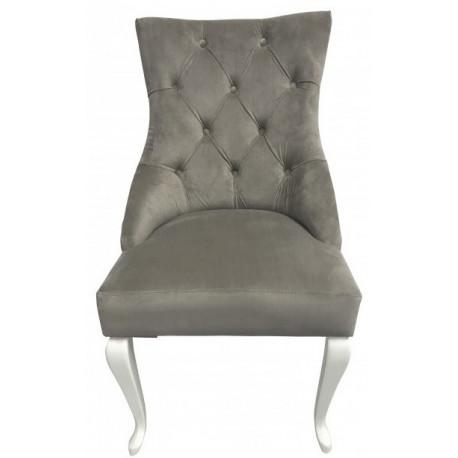 Полукресло (стул мягкий) HILTON (белый глянец / серый)