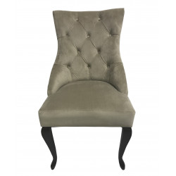 Полукресло (стул мягкий) HILTON (темный орех / серый)