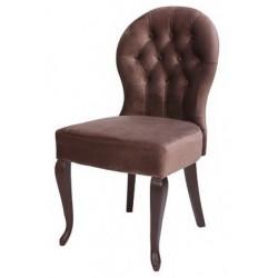 Полукресло (стул мягкий) NOVA (темный орех/коричневый)