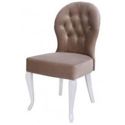 Полукресло (стул мягкий) NOVA (белый глянец/беж)