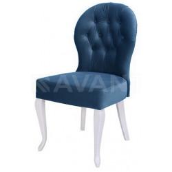 Полукресло (стул мягкий) NOVA (белый глянец/аква)
