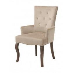 Полукресло (стул мягкий) BOSCO (темный орех/беж светлый)