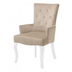 Полукресло (стул мягкий) BOSCO (белый лак / беж светлый).