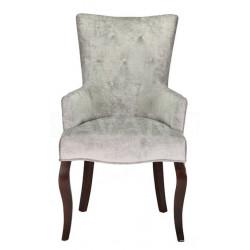 Полукресло (стул мягкий) BOSCO (темный орех/серый).
