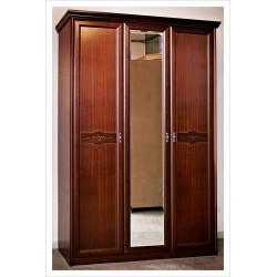 Шкаф для платья и белья 3-дверный с зеркалом НГ-94