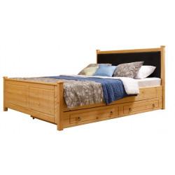 Кровать мягкая Дания №1 с ящиками односпальная
