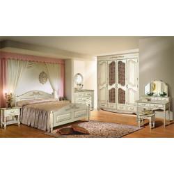 Спальня Фиерта белая с резьбой (максимальный набор)