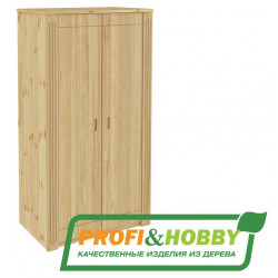 Шкаф Pino Rino двухдверный сосна, без покраски