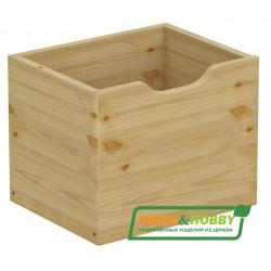 Ящик для стеллажа P&H, сосна, без покраски