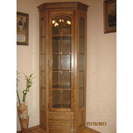 """Шкаф с витриной угловой """"Элбург"""" БМ-1394-01"""