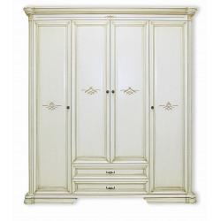 Шкаф для платья и белья Гермиона (в эмали)