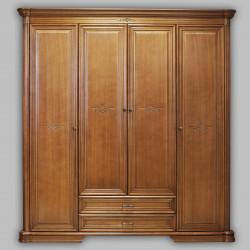 Шкаф для платья и белья Гермиона в цвете орех (анигре)