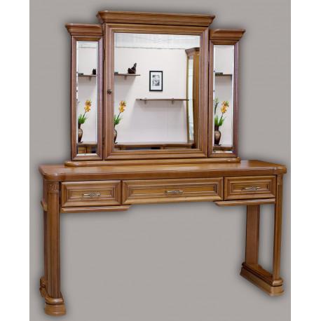 Туалетный столик с зеркалом Гермиона в цвете орех