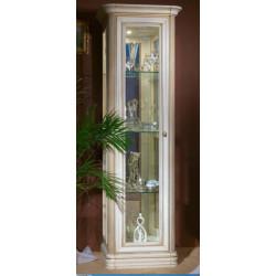 Шкаф-витрина (мини) из серии НГ-92 в цвете белая эмаль