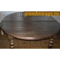 Стол обеденный (раздвижной) D 1290 БМ-1776-00-00BRU (брашированный)