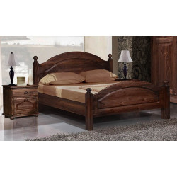 Кровать Лотос Б-9011Бр (160 на 200) с ножной спинкой