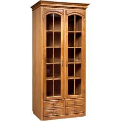 Шкаф с витриной Элбург БМ-1440-01 (для книг)