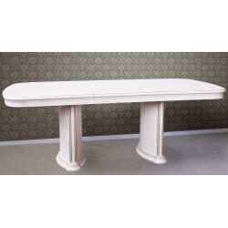 Стол обеденный раздвижной НГ-1700 в белом цвете
