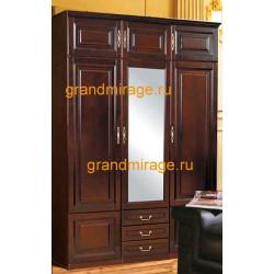 Шкаф 3-дверный комбинированный Орион с зеркальной дверцей (пример 2)