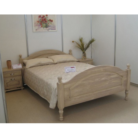 Кровать Лотос Б-1090-11BRU (160 на 200) с ножной спинкой (белый воск)