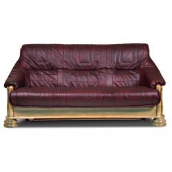 Диван-кровать 3-местный Цезарь БМ-1171-01-02/1К (сосна, натуральная кожа)