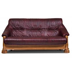 Диван-кровать 3-местный Цезарь БМ-1171-01-00/1К (дуб, натуральная кожа)