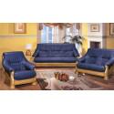 Набор Цезарь 4 (диван-кровать 3-местный + диван 2-местный + кресло), дуб, кожзам