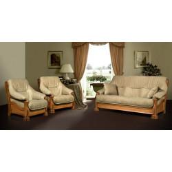 Набор Цезарь 6 (диван 3-местный + 2 кресла), дуб, кожзам