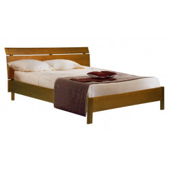 Кровать двойная Валенсия БМ-1601-01 (160x200) в цвете дуб