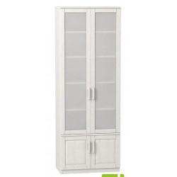 Шкаф книжный 2-дверный с фасадом стекло В-ШК-2-014-F