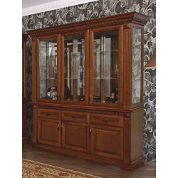 Шкаф с витриной 3-дверный Афина И010.22