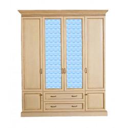 Шкаф 4-дверный Нинель И004.01 в эмали (слоновая кость)