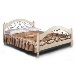 Кровать двойная Фиерта 48-02.1 (160 на 200) с ковкой