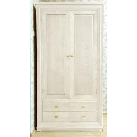Шкаф для одежды 2-дверный Лиссабон в белом цвете