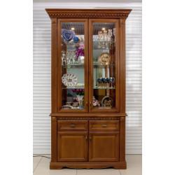 Шкаф с витриной 2-дверный Афина И010.21 высокий
