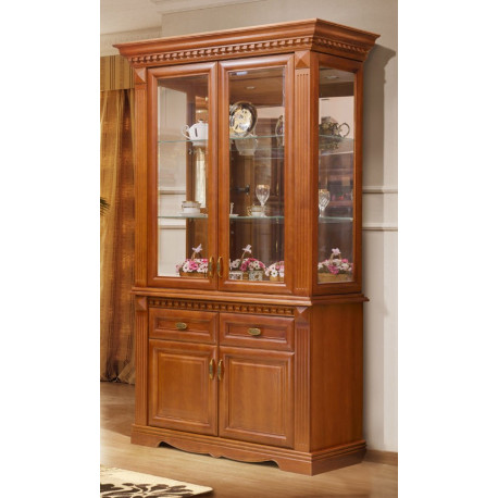 Шкаф с витриной 2-дверный Афина И010.21